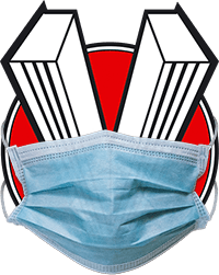 The Veloce Publshing logo wearing N95 mask