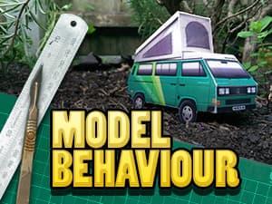 Model behaviour papercraft blog